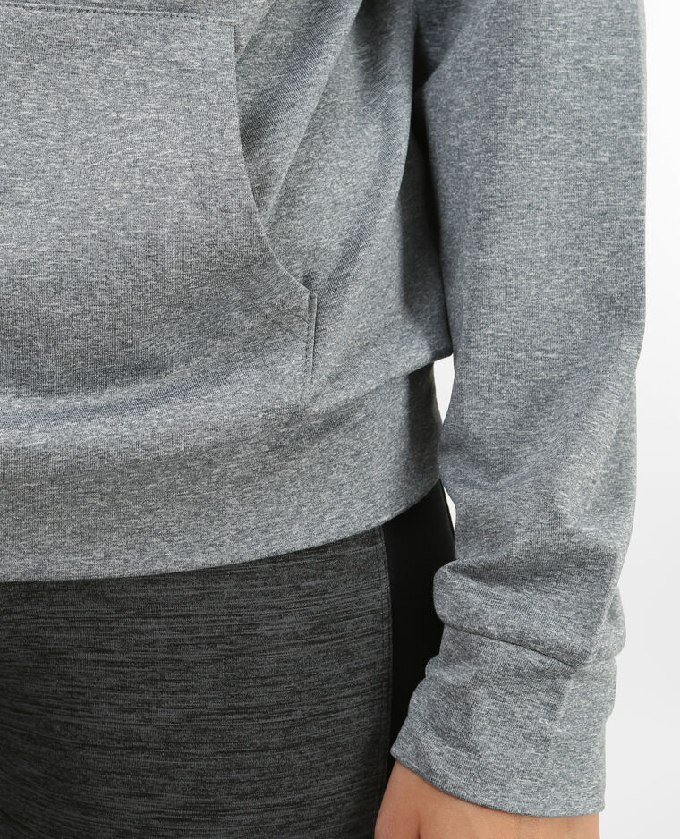 Dünnes Running Sweatshirt Grau meliert