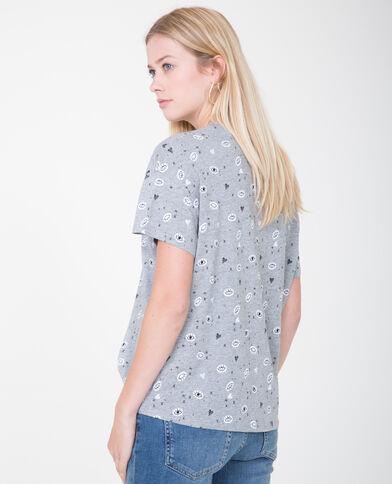 T-shirt à motifs gris