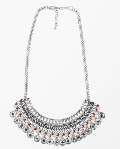 Halbmond-Halskette Silberig