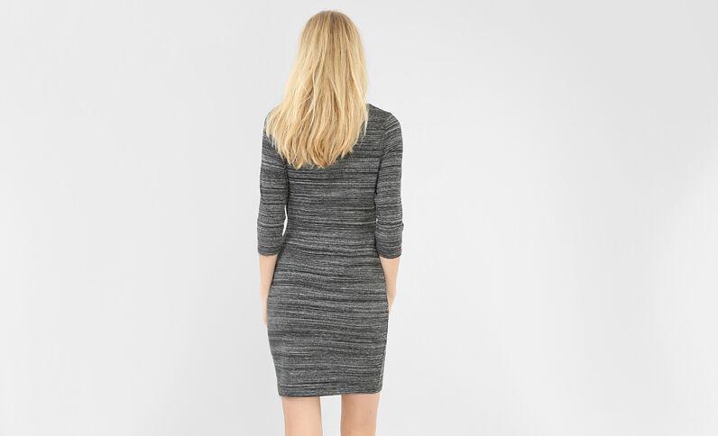 Kleid mit Schleife Grau