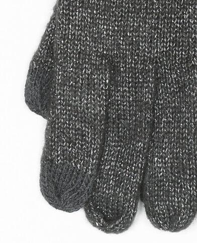Gants lurex compatible smartphone gris