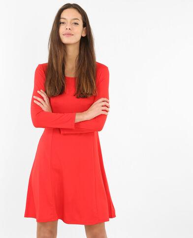 Vestido trapecio rojo