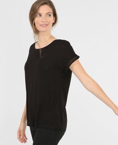 Camiseta espalda encaje negro