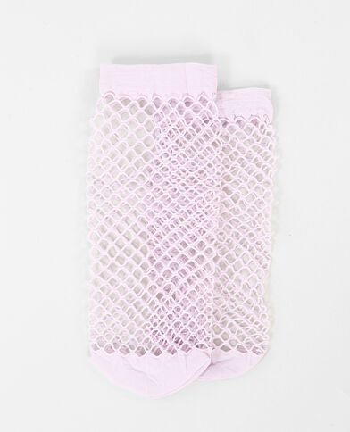 Calze reticella rosa