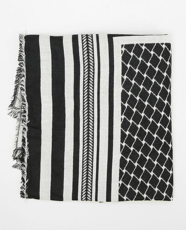 Plaid-Decke mit Aufdruck Schwarz