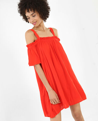 Robe ample rouge