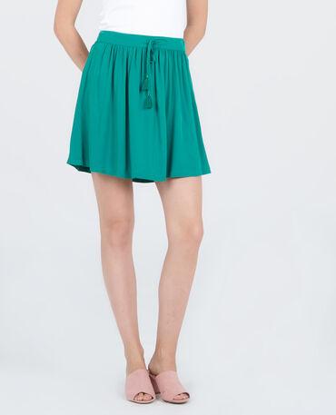 Mini jupe fluide vert sapin