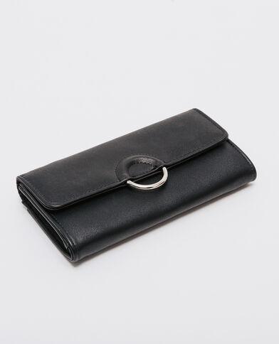 Portefeuille compagnon à boucle noir