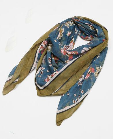 Halstuch mit Blumenmuster Blau