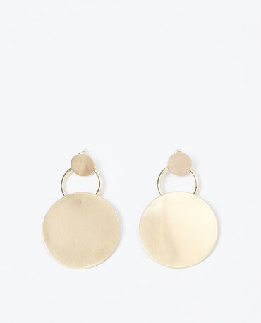 Boucles d'oreilles disque doré