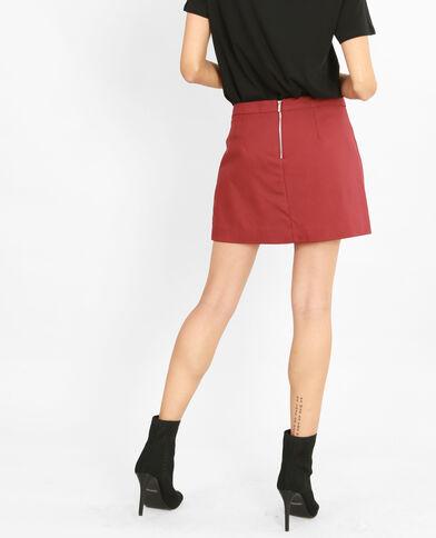 Minifalda-pantalón granate