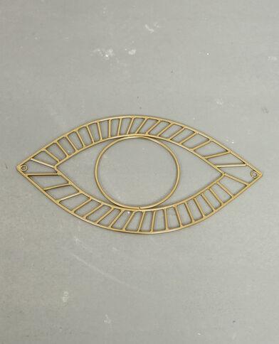 Occhio in metallo dorato