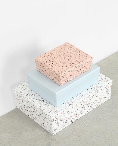 Schachten im 3er-Set, Terrazzo Blau