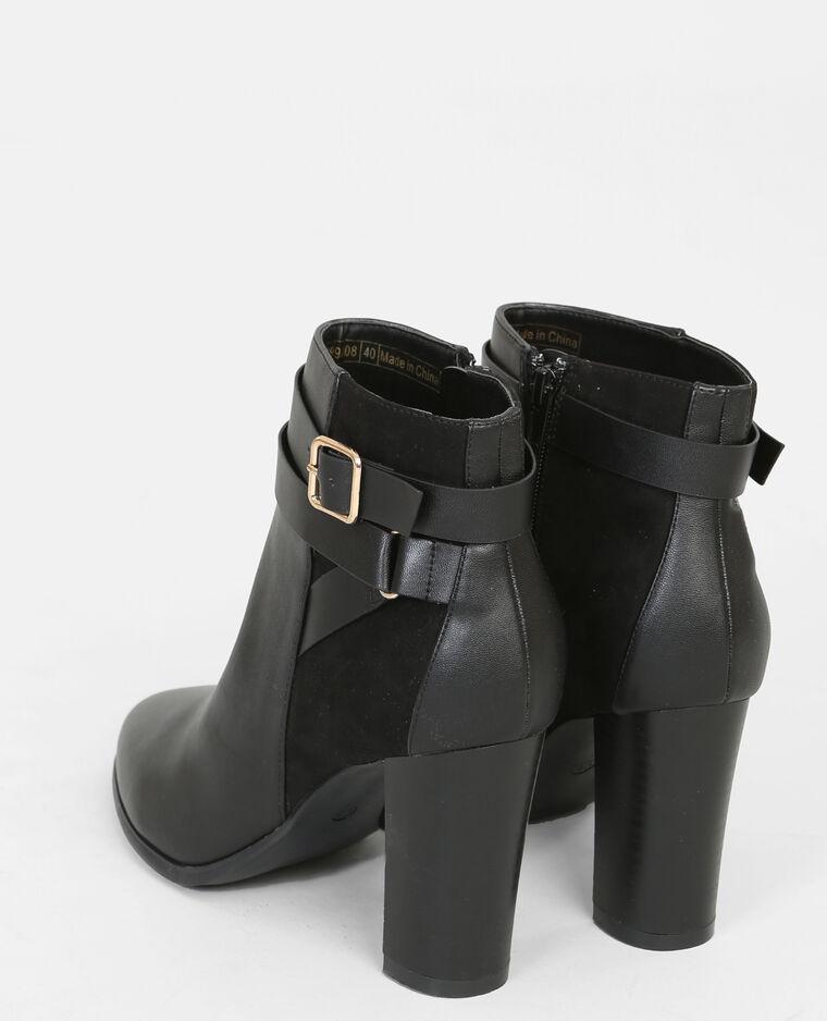 Boots boucles chevilles noir