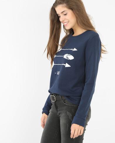 Sweatshirt mit Pfeil-Motiv Blau