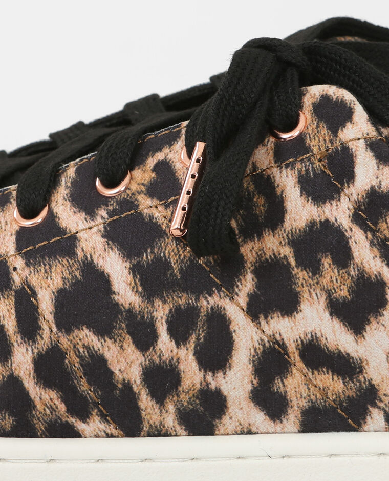 Scarpe da basket leopardate marrone