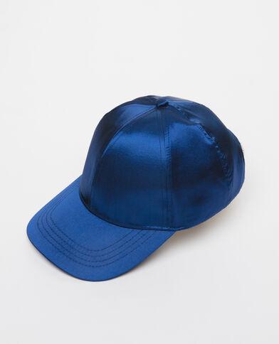 Basecap aus Satin Blau