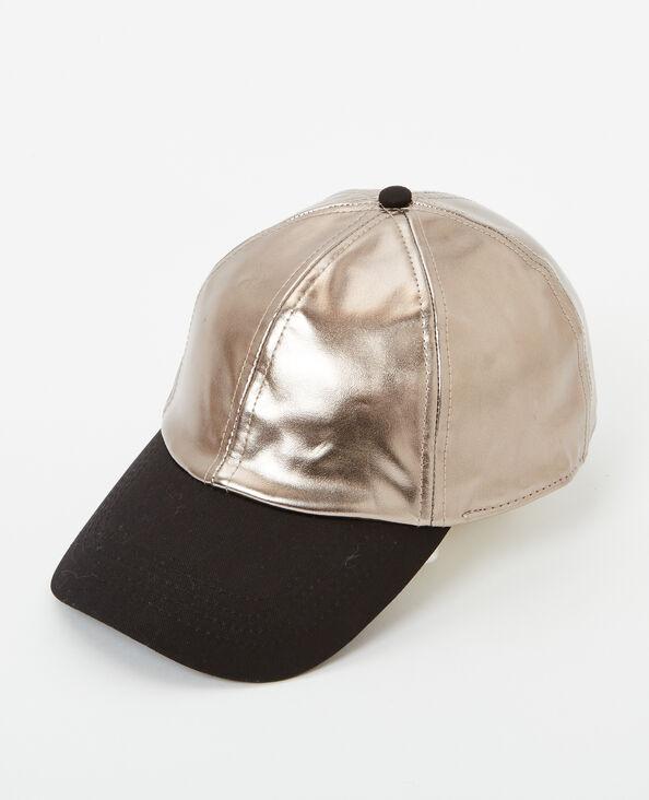 Gorra de dos tejidos gris brillante