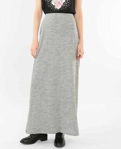 Jupe longue gris chiné