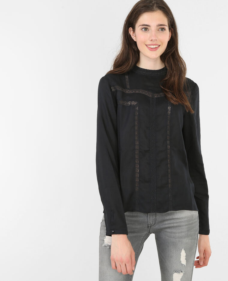 blouse dentelle noir 561250899f48 pimkie. Black Bedroom Furniture Sets. Home Design Ideas