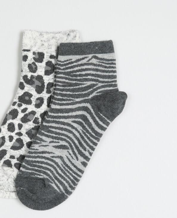 Lotto di calze stampate nero