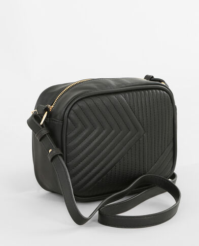 Boxy-Tasche im Rock-Style Schwarz