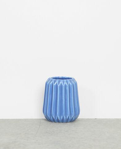 Petit vase céramique bleu délavé