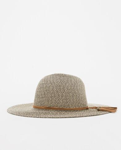 Sombrero de paja mezclada beige cáñamo
