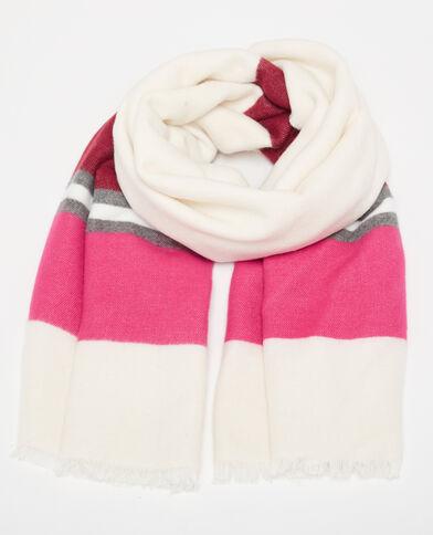 Grande sciarpa con fasce bianco