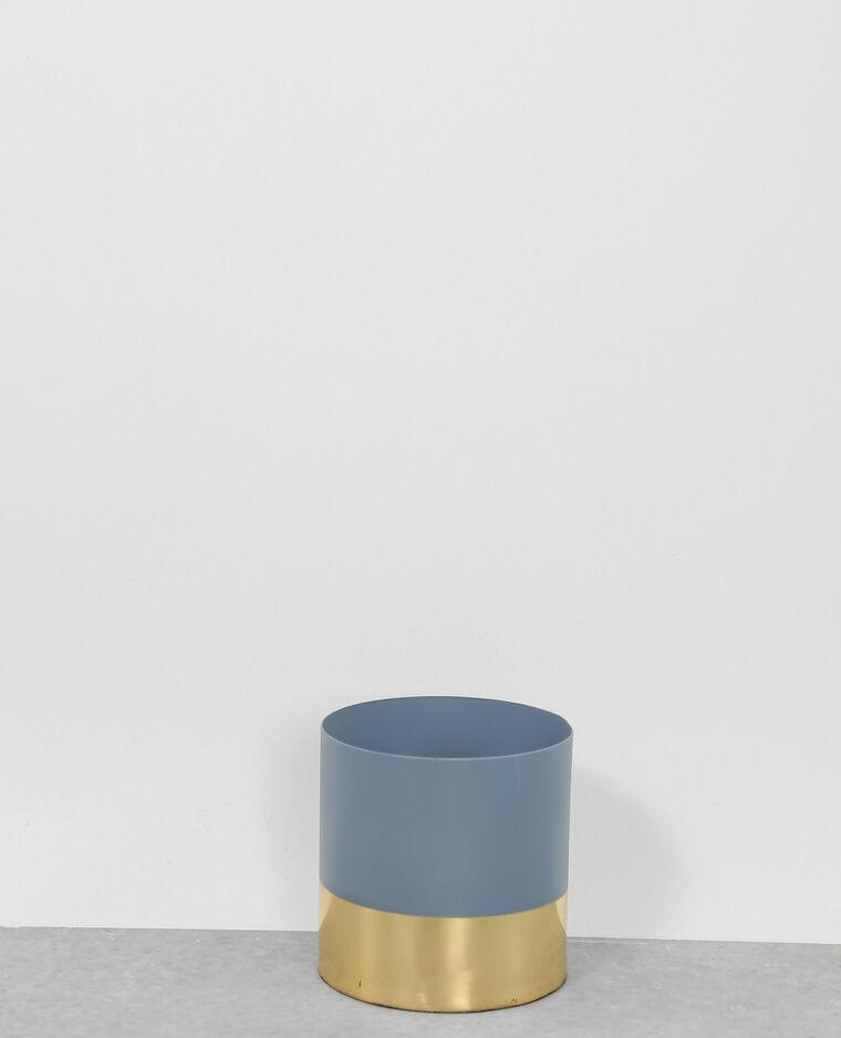Petit vase mordoré bleu aqua