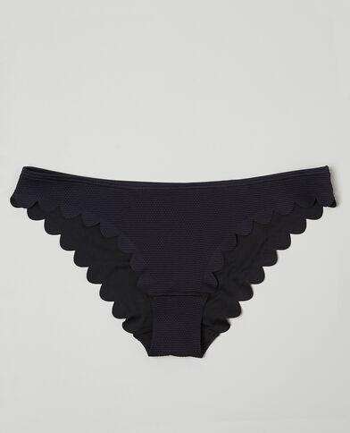Bikinihöschen mit Blütenmotiv Schwarz