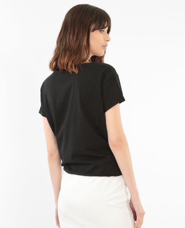 T-shirt con fiocco nero