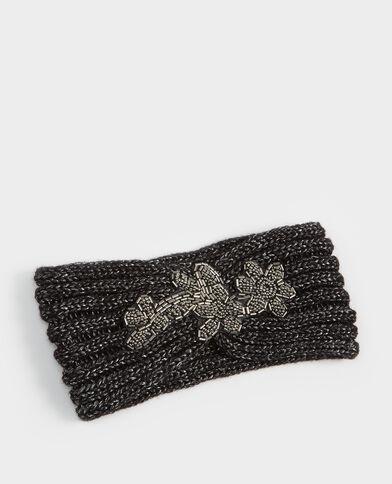 Headband en maille bijou noir