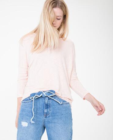 T-shirt à manches chauve-souris rose