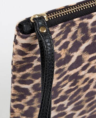 Micro pochette leopardata bruno