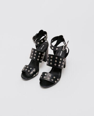 Sandalen met ringetjes zwart