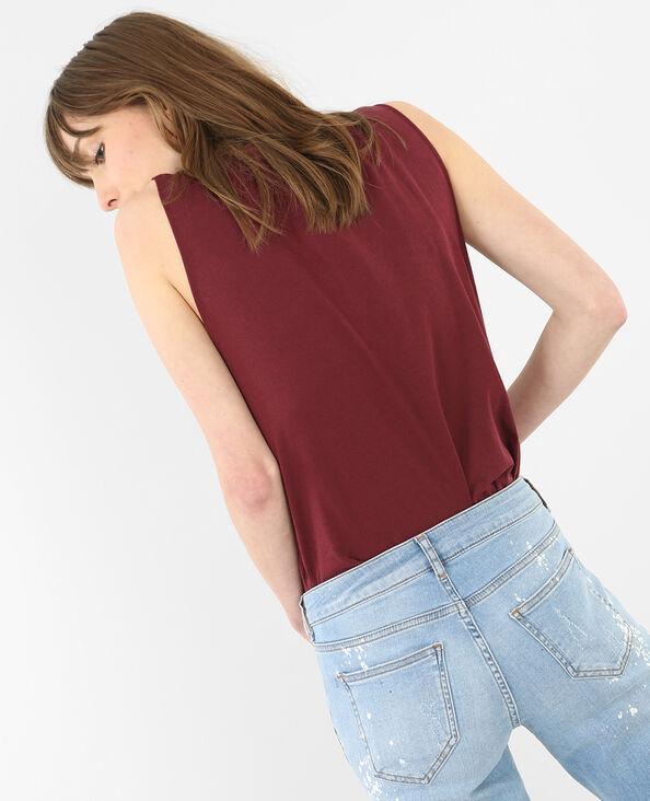 Stoer T-shirt met kant roze