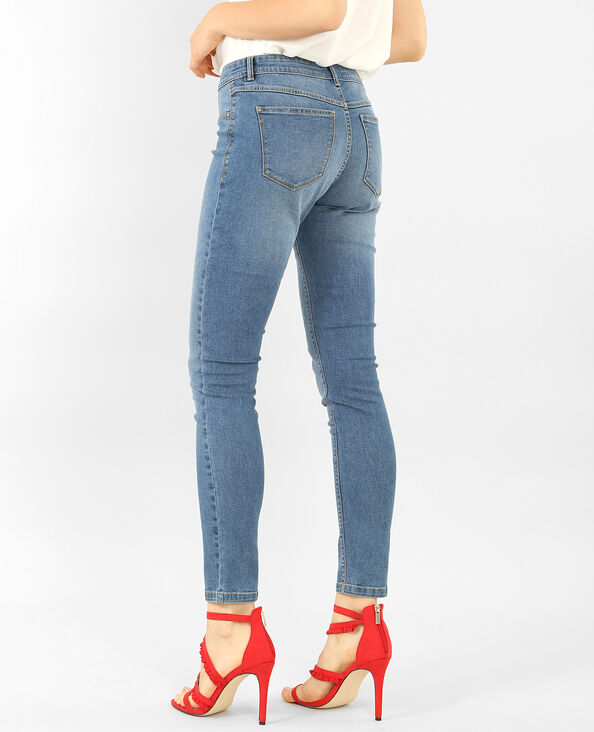 Basic-Jeggings Blau