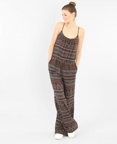 Abito pantalone stampato nero