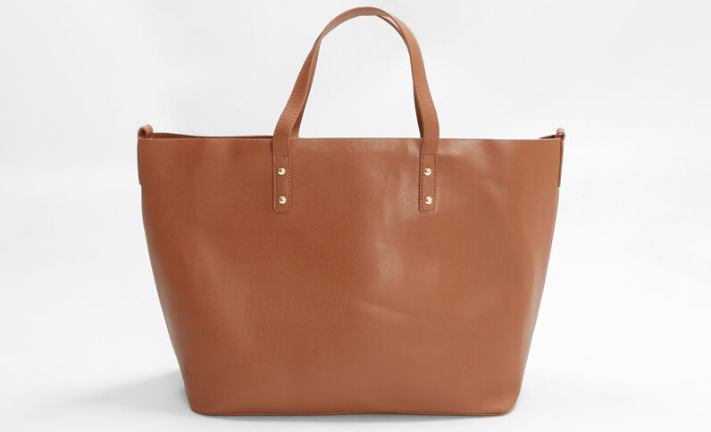Grande borsa shopping caramello