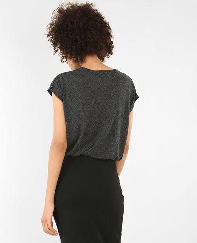 T-shirt met korte mouwen grijs