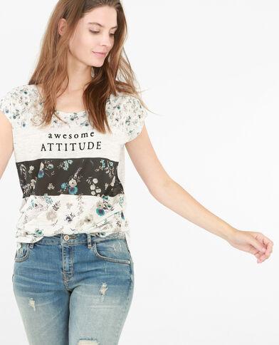 T-shirt stampata grigio