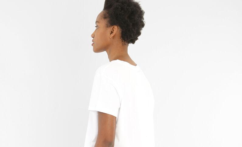T-Shirt mit Schriftzug Weiß