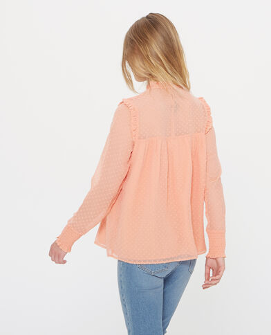 Blouse en plumetis orange
