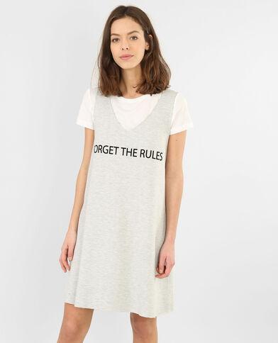 Sweatshirt-Kleid 2 in 1 Grau meliert