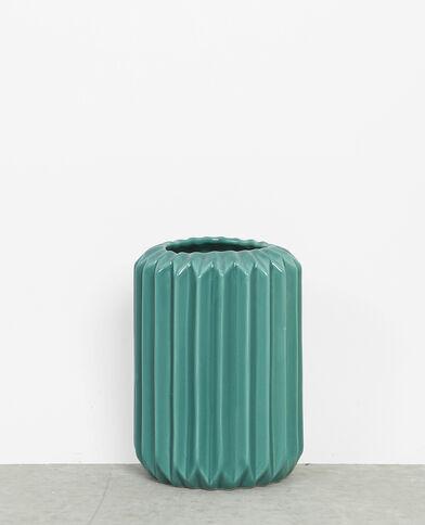 Vase aus Keramik Khaki