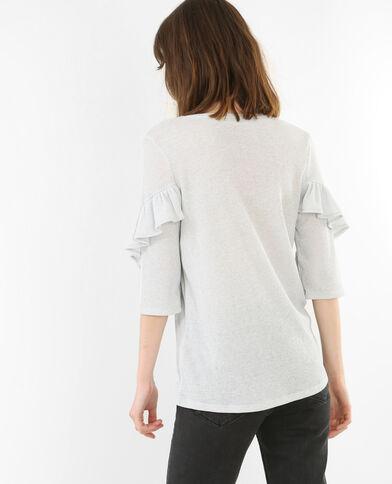 T-shirt à volants blanc
