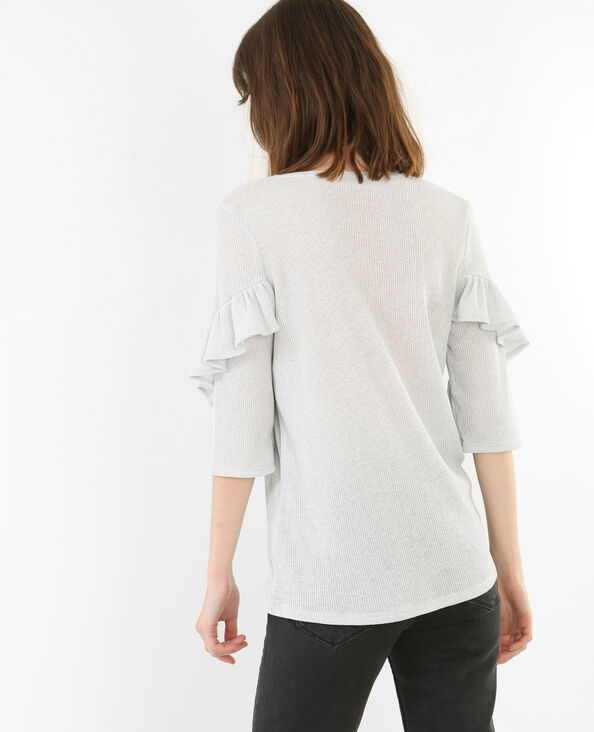 T-shirt met ruches wit