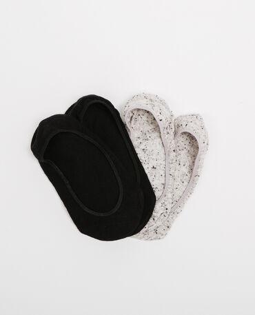 Lot de chaussettes invisibles noir