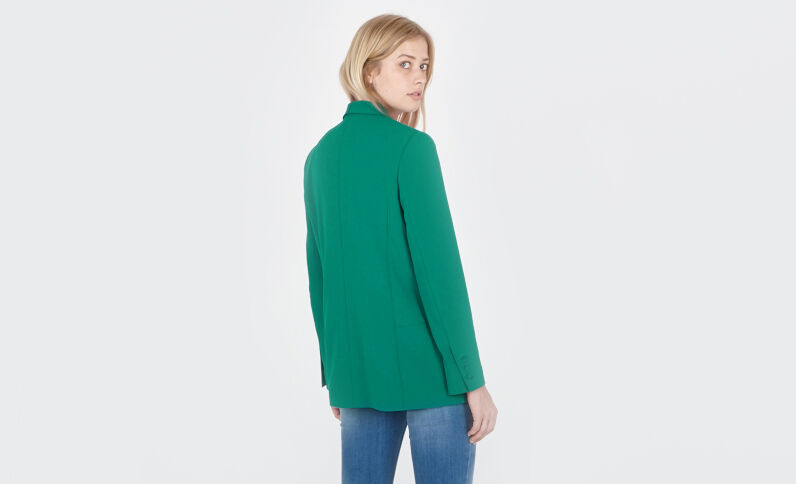Blazer col châle vert sapin